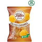 Better Than Good Snacks - Salted Carmel Veggie Protein Puffs 16g Protein - 2 Serving of Fruits & Veggies, Low Carb, Low Sugar, 110 Calories Keto Friendly, Diabetic Healthy Snack