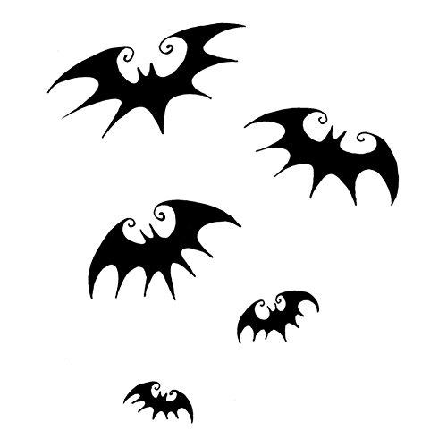 Flying Bats Silhouette Halloween 6