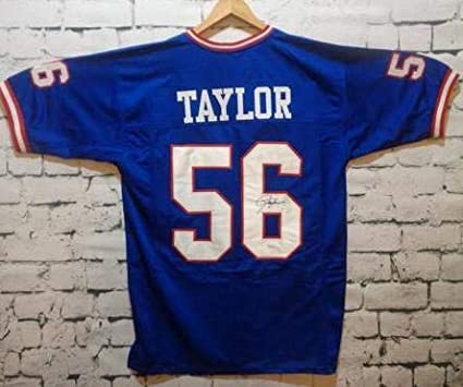 f37953e0562 Lawrence Taylor Signed Autographed New York Giants Football Jersey - JSA COA  at Amazon's Sports Collectibles Store