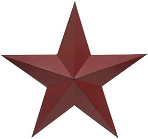 Craft Outlet Inc Craft Outlet 11 Red Antique Star Wall Decor Set of 2, 11 ,