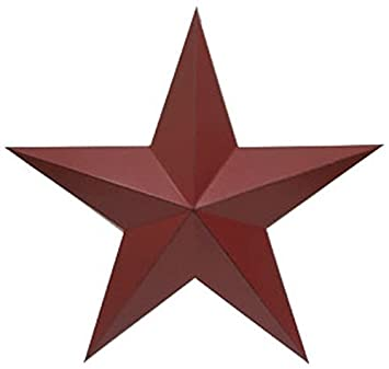 Amazon.com: Craft Outlet Antique Star Wall Decor, 36-Inch, Barn Red: Home u0026  Kitchen