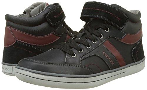 bordeaux – Nero Unisex Geox Jr Sneaker A Alto Adulto black A Garcia Collo qf8wxU7q