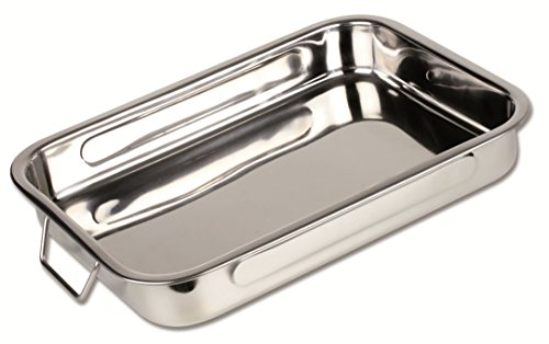 Chef Direct Stainless Steel Roast Pan With Folding Handles - Length 45 Cm X Width 32 Cm // Chef Direct // Rustidera Inox Con Asas Abatibles by Chef Direct