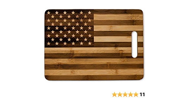 Premium Handmade American Flag Hardwood Cutting Board 4th of July Free Shipping