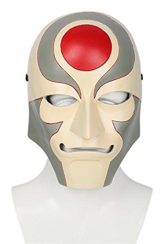 Xcoser Amon Mask Deluxe Adult Legend Korra Halloween Cosplay Costume Props Grey Red]()
