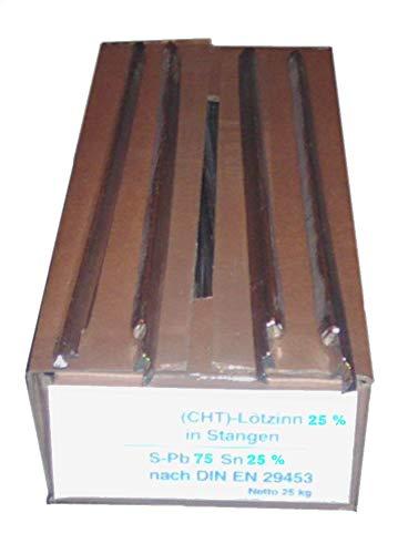 1 kg de barra de soldadura de estaño 25% DIN 29453