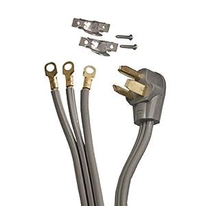 ALEKO WDC3W30A10 ETL 10-Foot Heavy Duty 3-Wire Dryer Cord, 30A