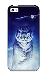 Coy Updike's Shop Hot 7852918K33030589 Hot Case Cover Protector For Iphone 5c- White Tiger Owl Art