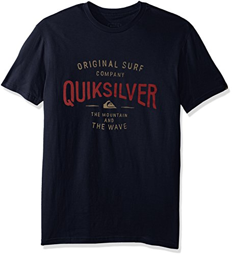 Quiksilver Men's Sunset Town T-Shirt, Navy Blazer, L