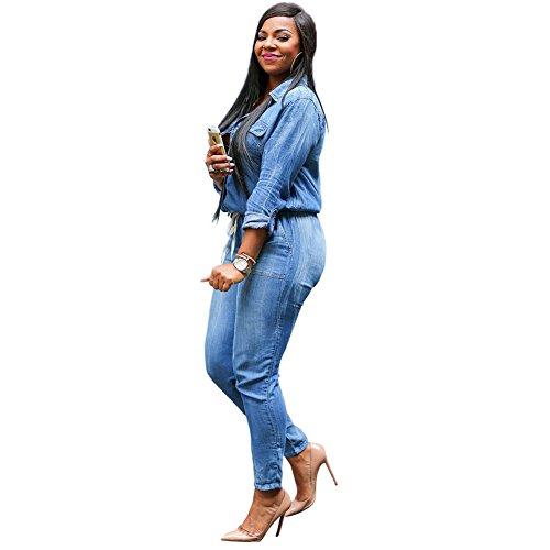 femmes Bandage de combinaisons Jeans Pantalons dcontracts Denim Pantalon Moshow BU8znPq
