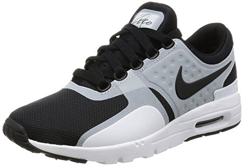 NIKE Air Max Zero Womens Running Shoes (7.5 B(M) US, White/Black)