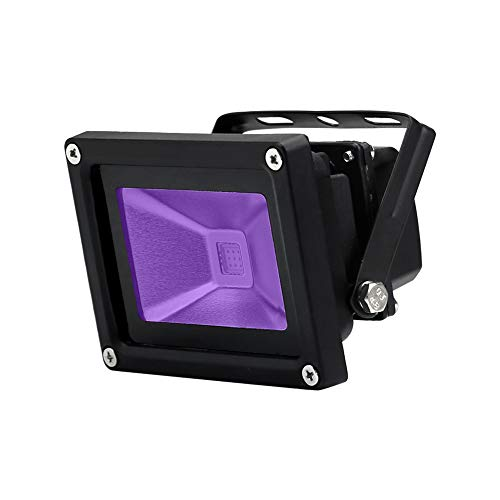 (YQL Outdoor UV Black Light,10W Ultra Violet LED Flood Light,Blacklights for DJ Disco Night Clubs,UV Light Glow Bar,Blacklight Dance Party,Stage Lighting,glow in the dark party)
