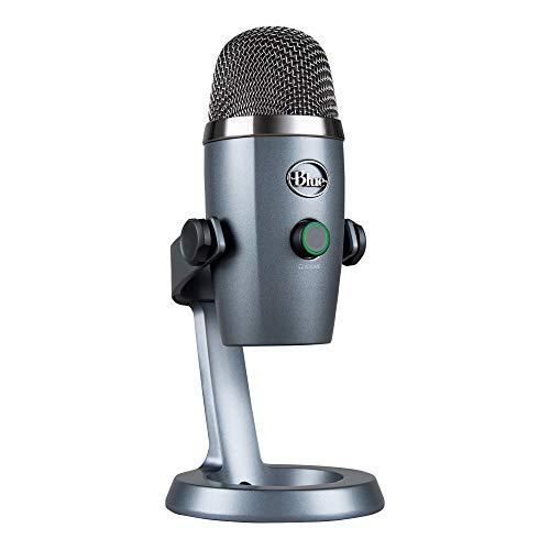 Blue Microphones Yeti NANO USB-Mikrofon für Aufnahme und Streaming auf PC und Mac, verstellbares Stativ, Plug und Play, Grau