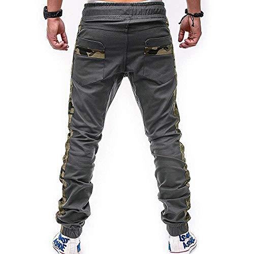 Casual Pantaloni Athletic Camouflage Slim Grau Uomo Moda Gamba Dritta Matita A Jeans Fit FT5Eq