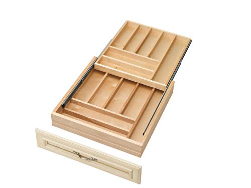 Rev-A-Shelf - 4WTCD-24SC-1 - Extra Large Double Tiered Cutlery Drawer with Soft-Close Slides