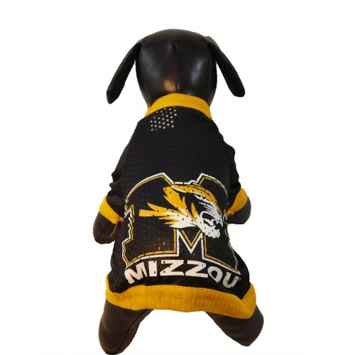 All Star Dogs NCAA Missouri Tigers Athletic Mesh Dog Jersey, Team Color, Medium (Missouri Tigers Jersey)