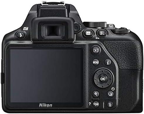 Nikon D3500 DSLR Camera Bundle with 18-55mm VR + 70-300mm Lenses | Built-in Wi-Fi|24.2 MP CMOS Sensor | |EXPEED 4 Image Processor and Full HD Videos + 64GB Memory(17pcs)