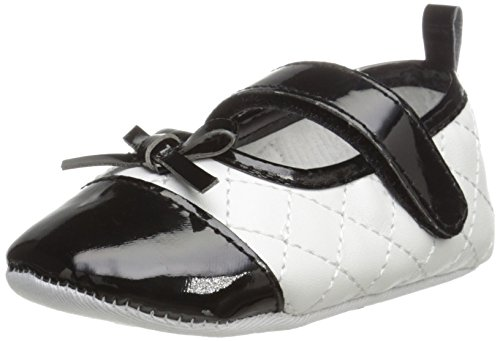 Laura Ashley LA20980 Mary Jane (Infant/Toddler), White/Black, 2 M US Infant