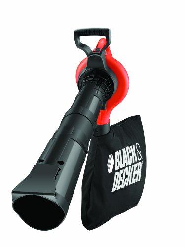 Black+Decker Laubsauger und Bläser GW2810 mit Häcksler, 50l Fangsack und Tragegurt / 3000W / Extrem stark mit variabler Blasgeschwindigkeit / Rückenschonende Benutzung