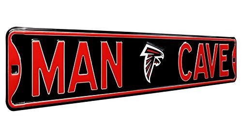 Fremont Die 35072 NFL Atlanta Falcons MAN CAVE, Heavy Duty, Steel Street Sign, 36