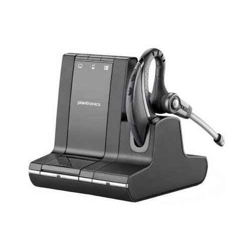 Monaural Earset - Plantronics Savi W730 Earset - Mono - Wireless - DECT - 120m - Over-the-ear - Monaural - Open - Noise Cancelling Microphone by Plantronics