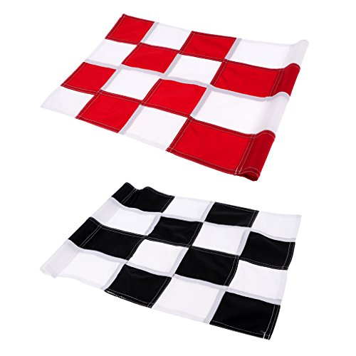 MagiDeal 2Pcs Practice Golf Putting Green Flags Backyard Garden Training Accessories by Unknown