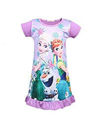 LMM Bbay Girls Princess Pajamas Toddler Nightgown Dress