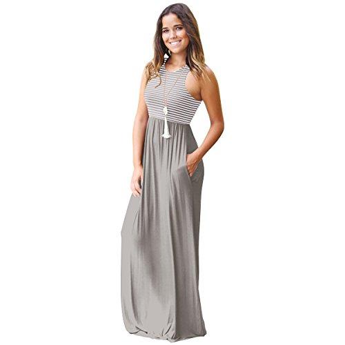 Kleider lang grau