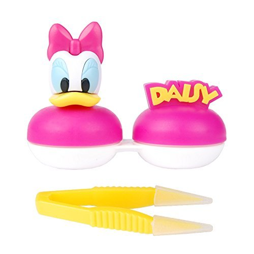 Disney Mickeymouse & Friends Characters Contact Lens Case, For Soft Contact lenses (Daisy duck) by Mickeymouse & Friends Contact Lens Case ()