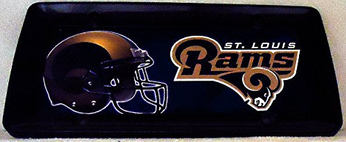 1 , Football Sign of the, SAINT LOUIS RAMS , Metal Sign, Enclosed in a Black Metal Frame,15B1.6+17B5.4+3001+
