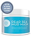 Dead Sea Mud Mask – Blended With Charcoal and Bentonite Clay – Self Care Facemask for Cleansing, Oil Control, Diminishing Acne and Blackheads (8.8 Oz) – Pure Body Naturals For Sale