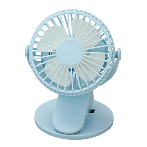 Aobiny Fan,USB Portable Small Fan Rechargeable Clipped in Bed Office Student Dormitory