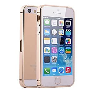 get Special Design Purity Colorized Ultrathin Metal Frame Case for iPhone 5/5S(Assorted Color) , Brown
