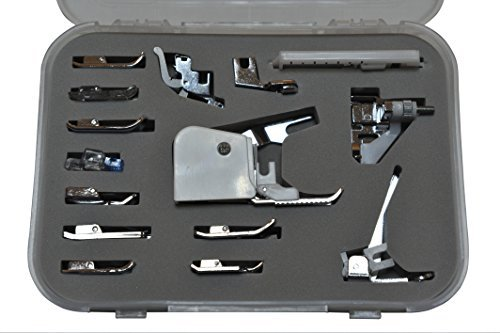 Premium 15 Piece Sewing Machine Presser Feet Kit - Suitable With Babylock, Janome, Brother, New Home, Singer, Kenmore, Simplicity, Elna, Toyota, Necchi - Bernina Sewing Machines Parts