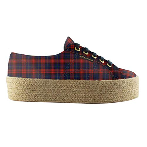 Mixte Squares 2790 914 Adulte indigo Superga ~Fabricshirtropew Red Sneakers Basses wInqng60