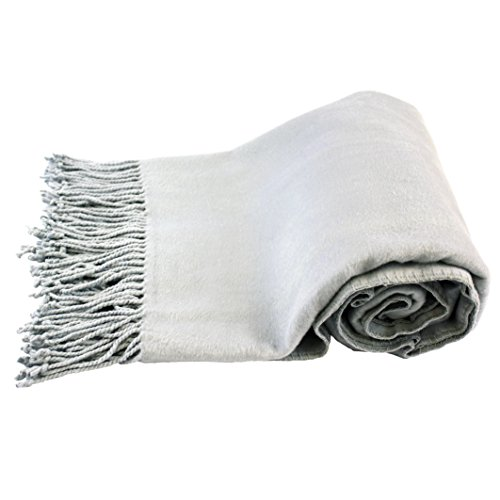 Jasmine Silk 100% soie de mûrier châle pashmina écharpe châle- gris