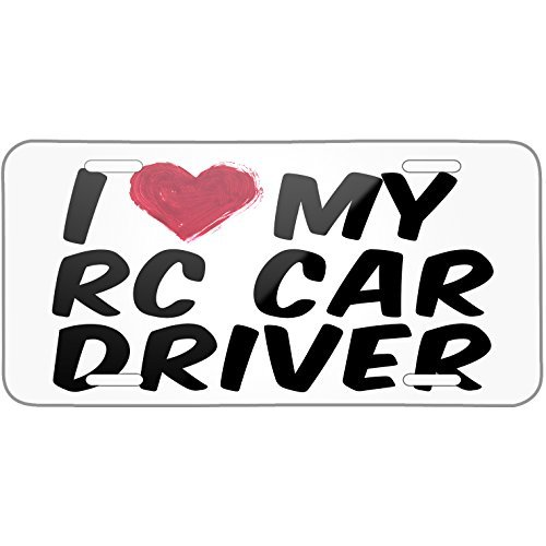 Used, I Heart Love My RC Car Driver Metal License Plate 6X12 for sale  Delivered anywhere in Canada