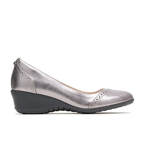 Hush Puppies Women's Odell Slipon Pump Gunmetal Metallic Leather 07.0 M ()