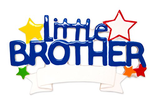 Ornament Brother Big Personalized (Grantwood Technology Personalized Christmas Ornament Family Little Bro- Lil Brother)