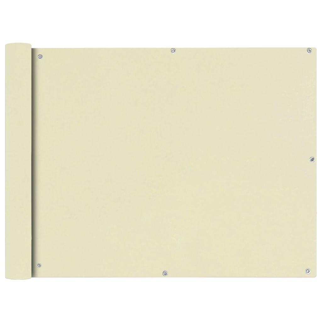 FZYHFA Paravento da Balcone in Tessuto Oxford 90x600 cm Crema Vela Parasole Tende Parasole paravento Esterno Giardino