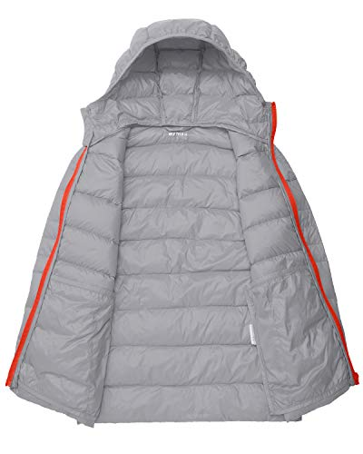 07936eafb0d60 Wantdo Boys Girls Lightweight Puffer Down Jacket Packable Winter Coat Hooded  Kids