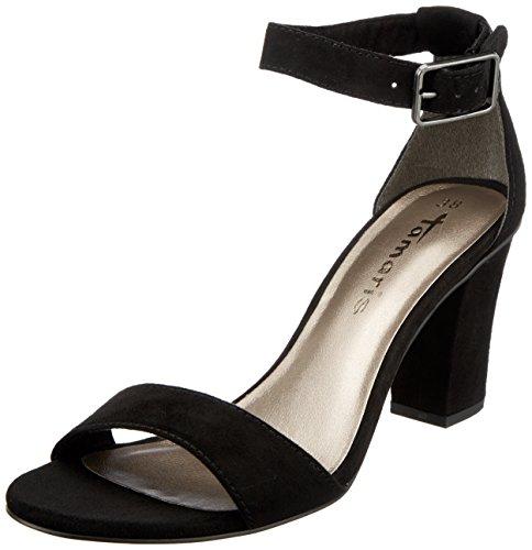 Tamaris Women's 28397 Ankle Strap Sandals Black (Black 001) 9W7uueVWb