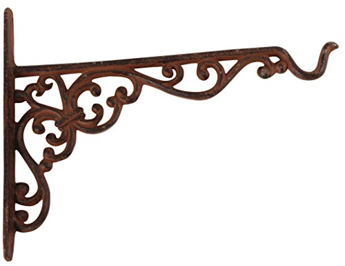 Esschert Design Cast Iron Hanging Basket Hook, - Iron Hanging Cast
