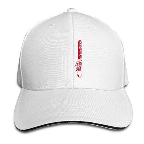 Youbah-01 Women's/Men's Halloween Chainsaw Flag Adult Adjustable Snapback Hats Baseball Cap White]()