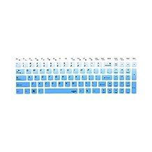 Leze - Ultra Thin Silicone Cover Skin Protector for Lenovo Z50,Z51,Z50-70,Z70,Z710,B50,B50-45,B50-80 Laptop Semi - Gradual Blue