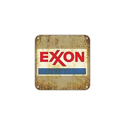 Exxon Gas Station Oil Petroleum Gasoline Vintage Retro Metal Wall Decor Art  Shop Bar Aluminum 12x12