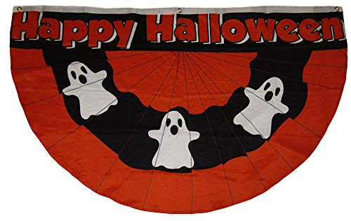 Trade Winds 3x5 Halloween Ghost Bunting 3'x5' Rough