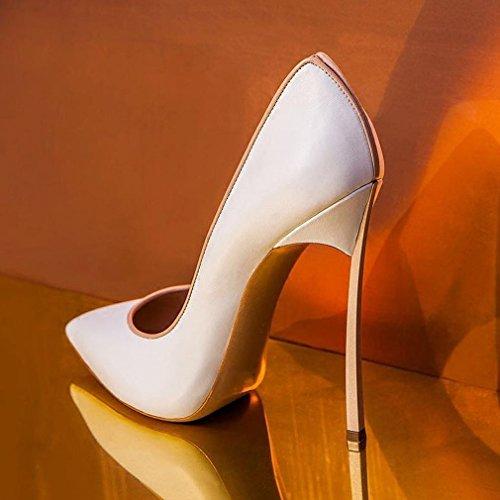 Zapatos de Tacón Alto con Atractivas Alpargatas Poco Profundas Segundo