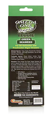 Omega One Seaweed, Green, 24 Sheets, 0.8 oz (Best Frozen Food For Saltwater Fish)