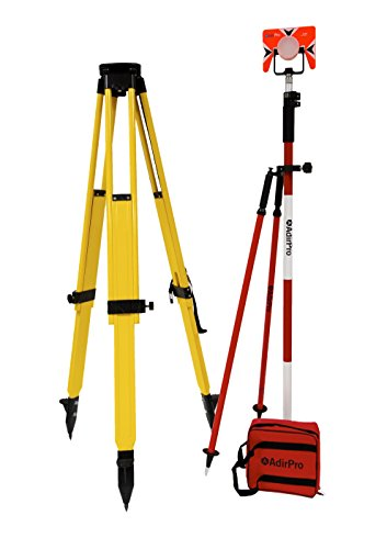 AdirPro Total Station Starter Kit Includes: Wood/Fiberglass Tripod - Prism (with case) - Prism Pole - Prism Pole Bipod